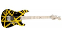 EVH Stripe Series Electric Guitar Black with Yellow Stripes