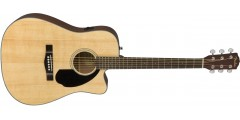 Fender CD60-SCE Acoustic Electric Guitar Natural Finish