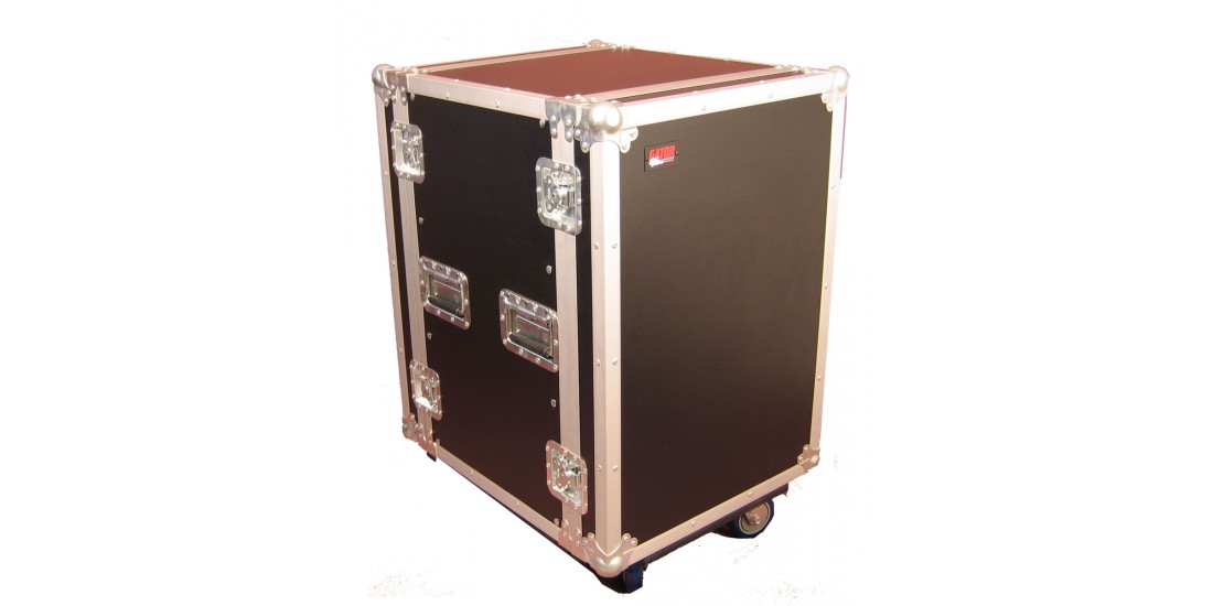 16U Standard Audio Road Rack Case w/ Casters
