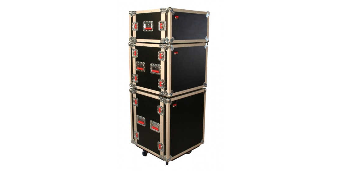 8U Shock Audio Road Rack Case w/ Casters