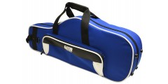 Lightweight Alto Sax Case White and Blue