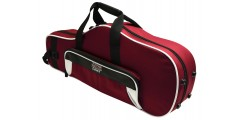 Lightweight Alto Sax Case White and Maroon