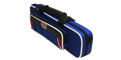 Lightweight Flute Case Red and Blue