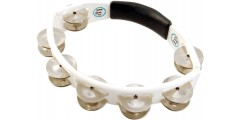 Lp Latin Percussion Cyclops Tambourine Double Row Double Jingle White