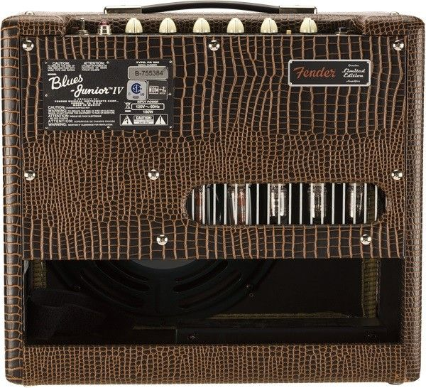 open box fender blues junior iv alligator black guitar amplifier 2019 fsr 885978132218 ebay. Black Bedroom Furniture Sets. Home Design Ideas